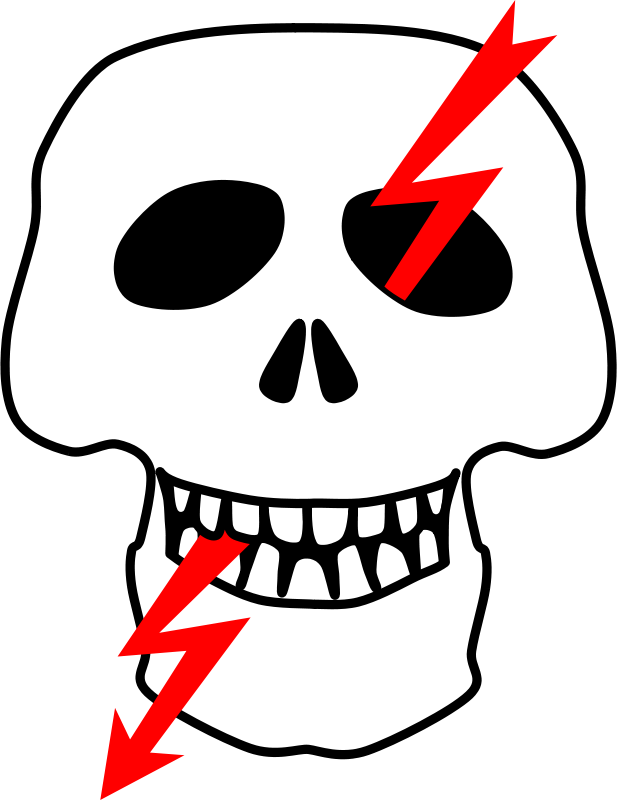 Free Clipart: High voltage sign (Russian)   rones