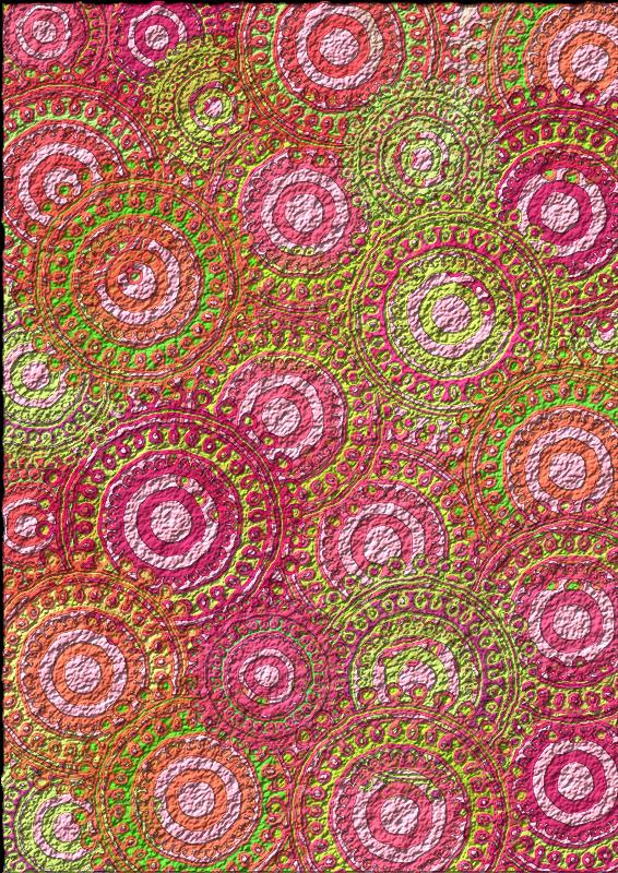 Free Pink Lime Circle Pattern Scrapbook Paper