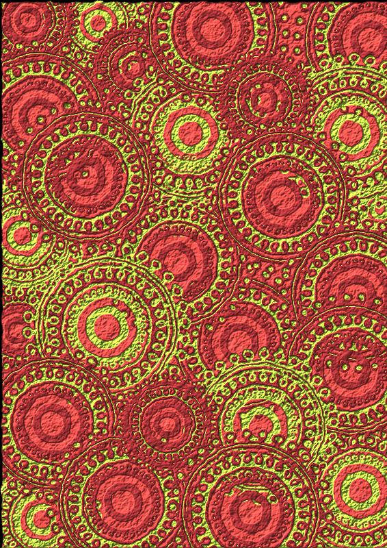 Free Lime Burgundy Circle Pattern Scrapbook Paper