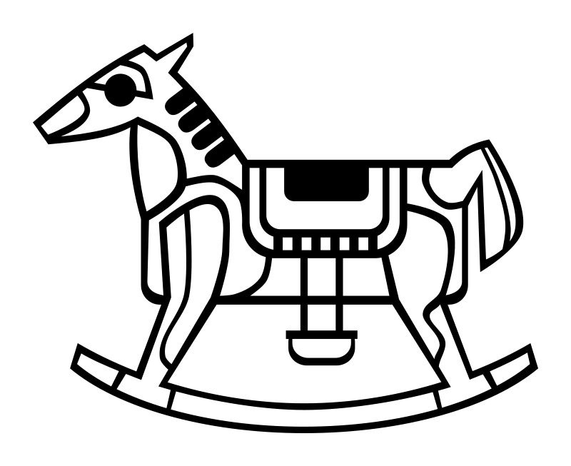Free Rocking Horse Outline
