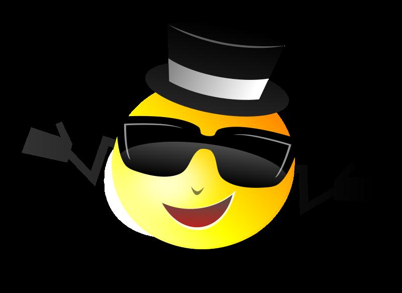 Free Cool Dapper Shruggy Smiley