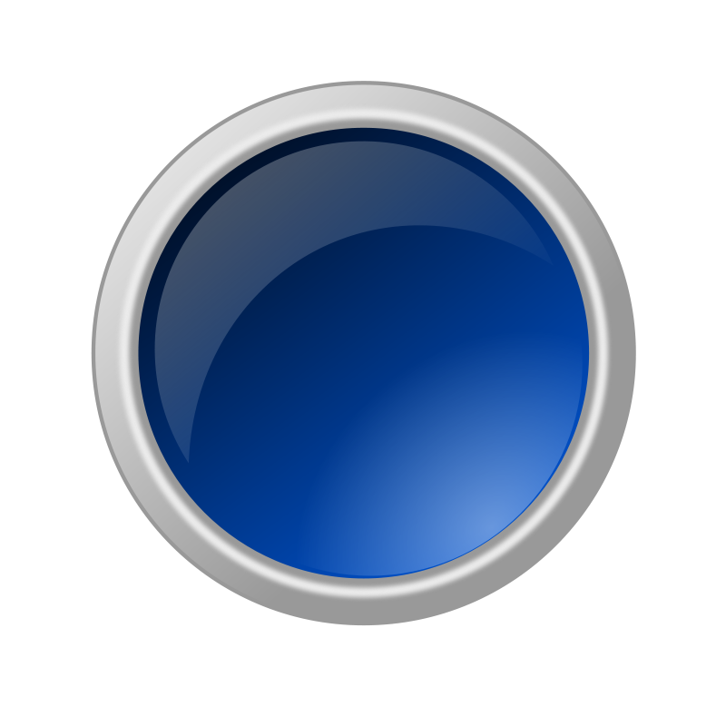 Free glossy blue button