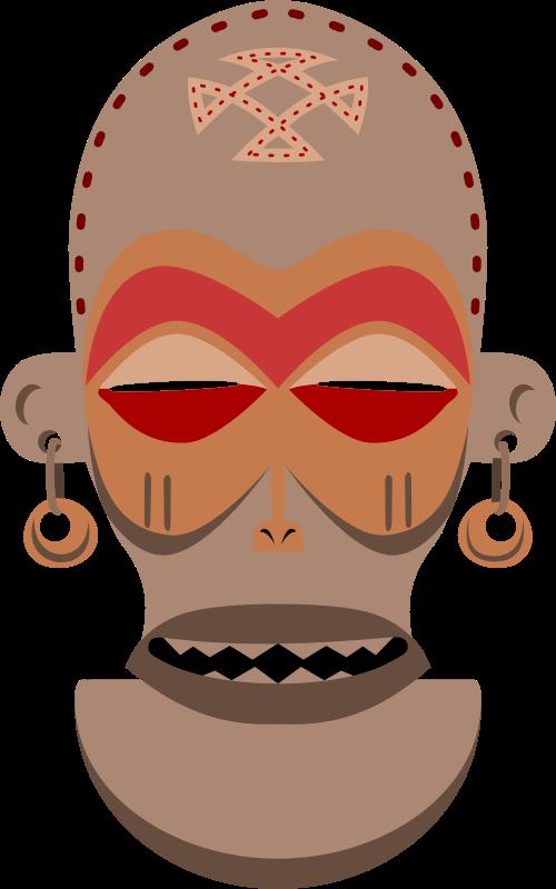Free African Mask. Chokwe, Angola, Zaire