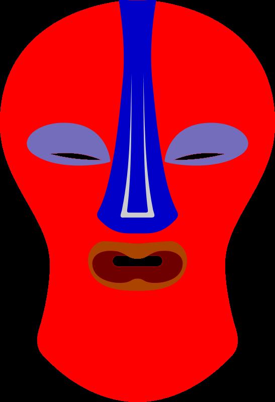Free African Mask. Baluba, Zaire