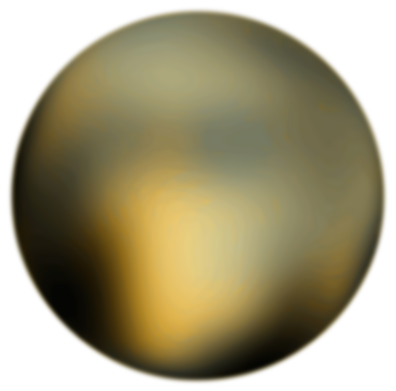 Free Clipart: Pluto 180 Degree Face From Hubble Telescope | Merlin2525