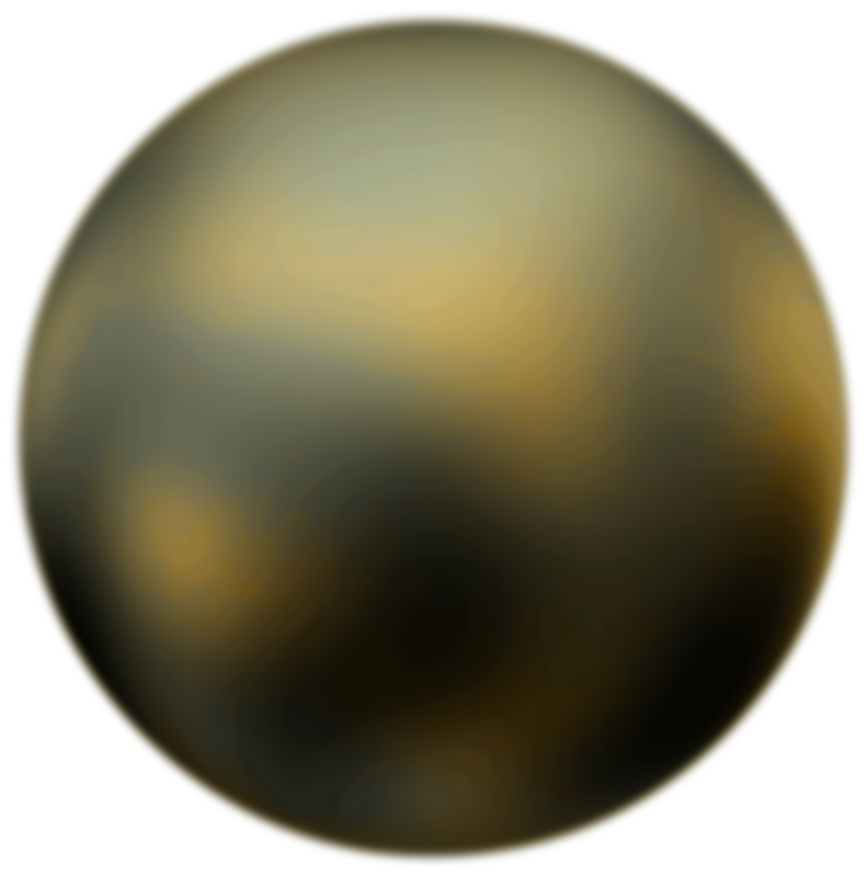 Free Pluto 90 Degree Face From Hubble Telescope