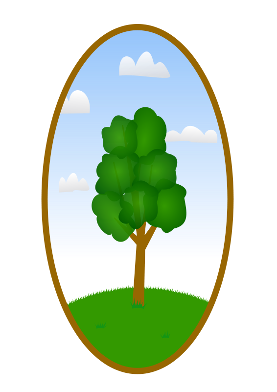 Free Oval Tree Landscape 2