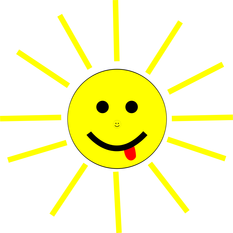 Free Funny Sun Face Cartoon
