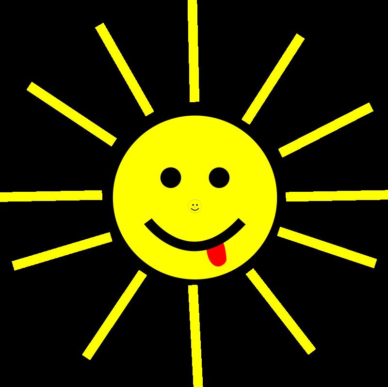 Free Funny Sun Face Cartoon
