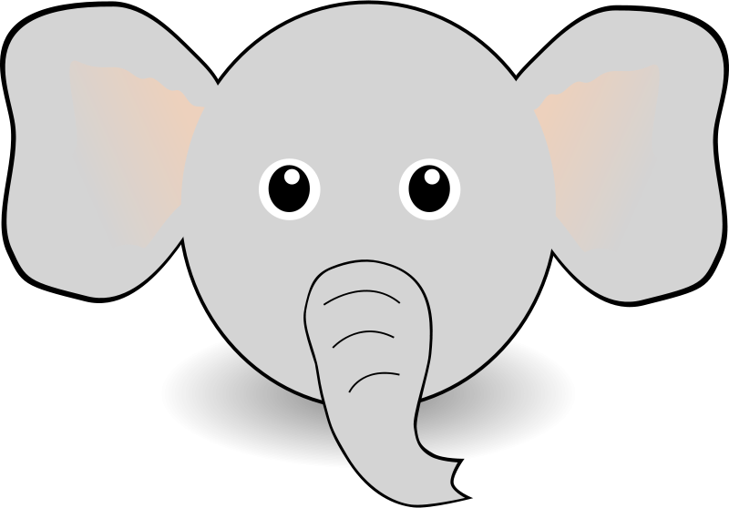 Free Funny Elephant Face Cartoon
