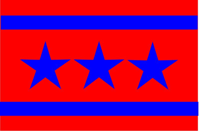 Free 3 Star Flag
