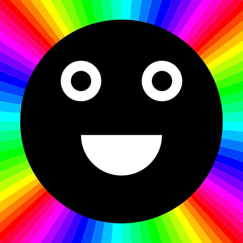 Free Clipart: Happy black moon outrayj | 10binary