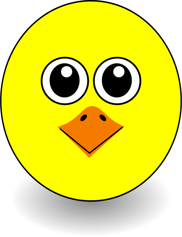 Free Funny Chick Face Cartoon