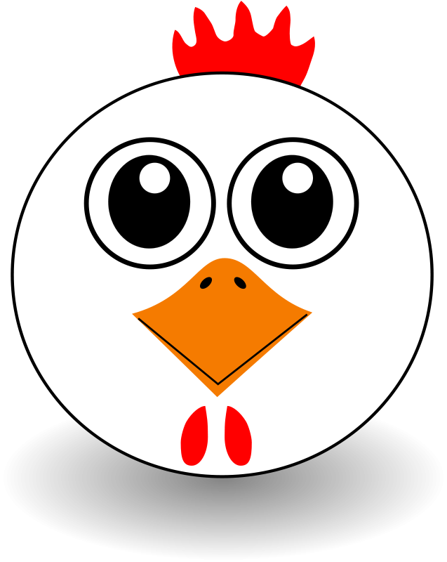 Free Funny Chicken Face Cartoon