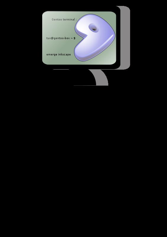 Free gentoo-terminal-inkscape 01
