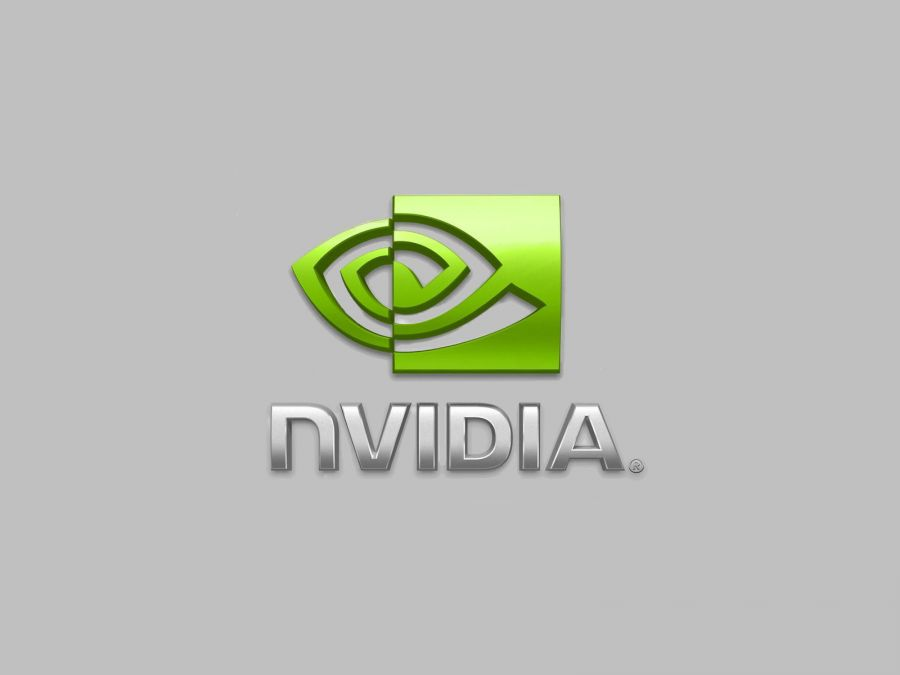 Free Wallpapers: NVIDIA Logo Gray Background | Brands