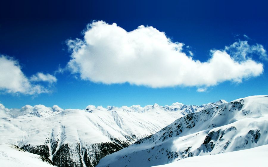 Free Wallpapers: Winter Snowy Mountains   Nature