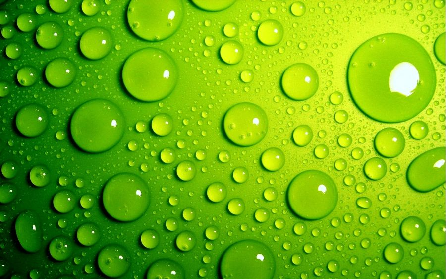 Free Wallpapers: Green Bubbles | Abstract