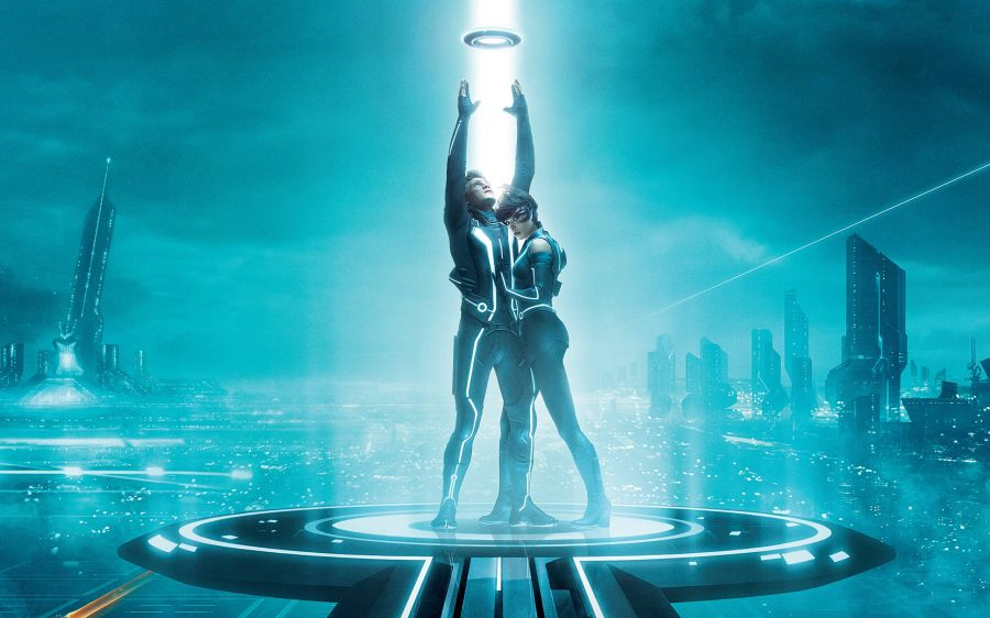 Free Wallpapers: Sam Flynn and Quorra in TRON | Movies