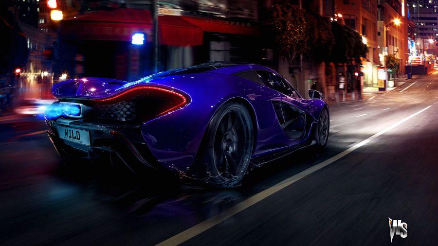 Free Wallpapers: McLaren P1 in Blue | Transportation