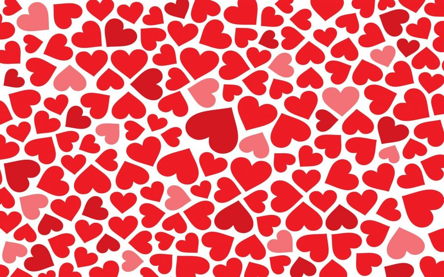 Free Wallpapers: Love Tiled Background | Love