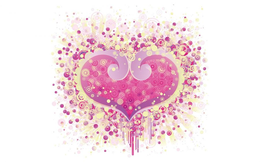 Free Wallpapers: A Purple Heart | Love