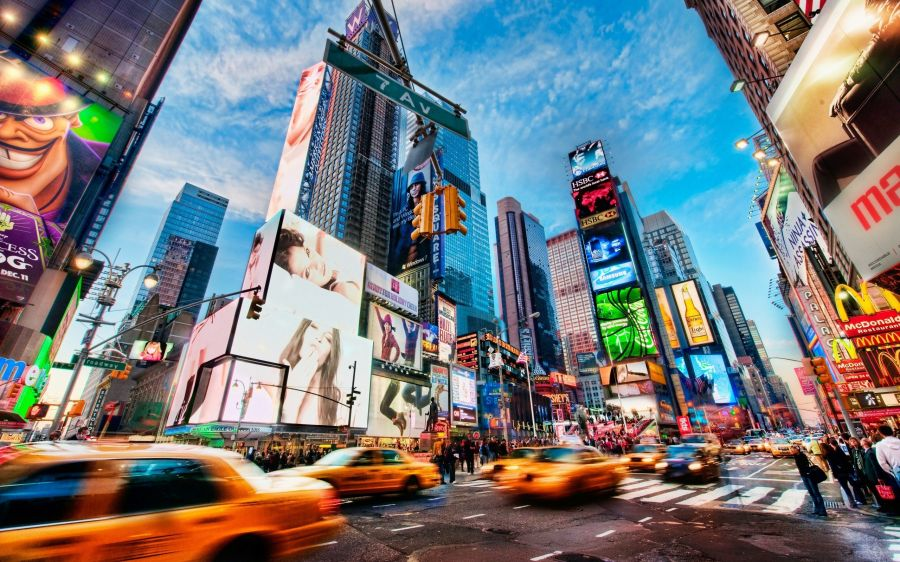 Free Wallpapers: Times Square New York Wide | Travel