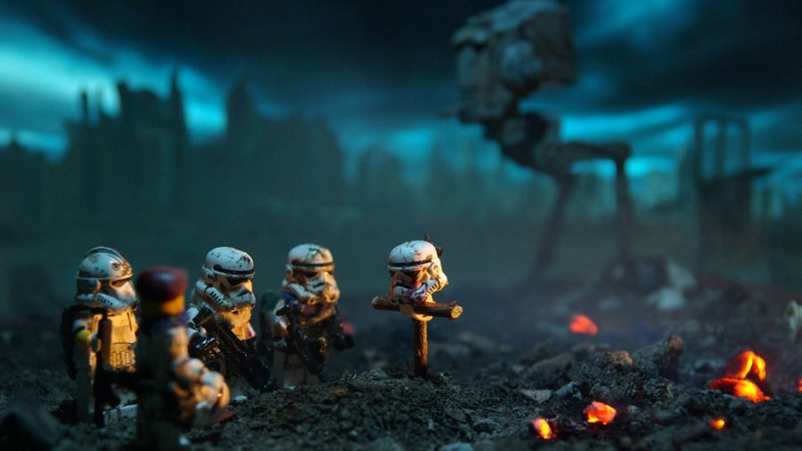 Free Wallpapers: Star Wars Lego Death Stormtroopers Fire | Digital Art