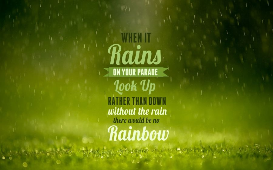 Free Wallpapers: Green Typography Raindrops | Typography
