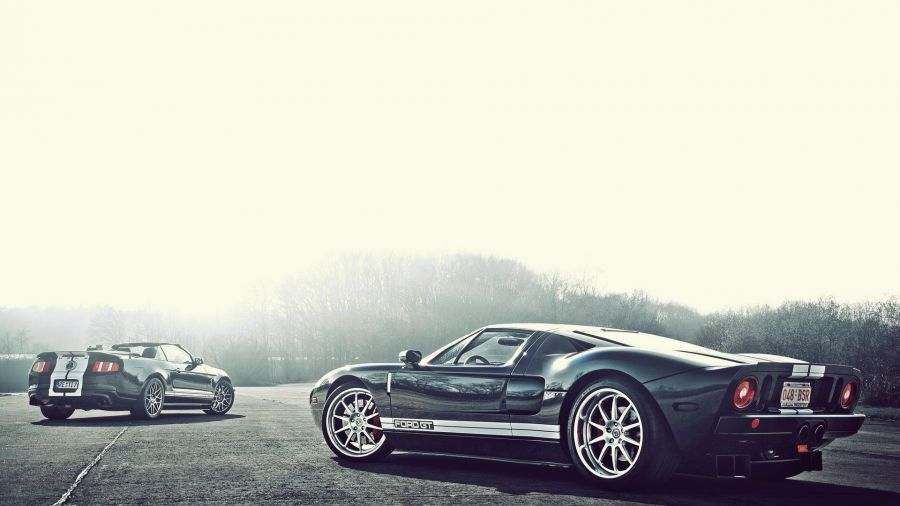 Free Wallpapers: Black Ford Gt Gt90 And Ford Shelby Mustang | Transportation