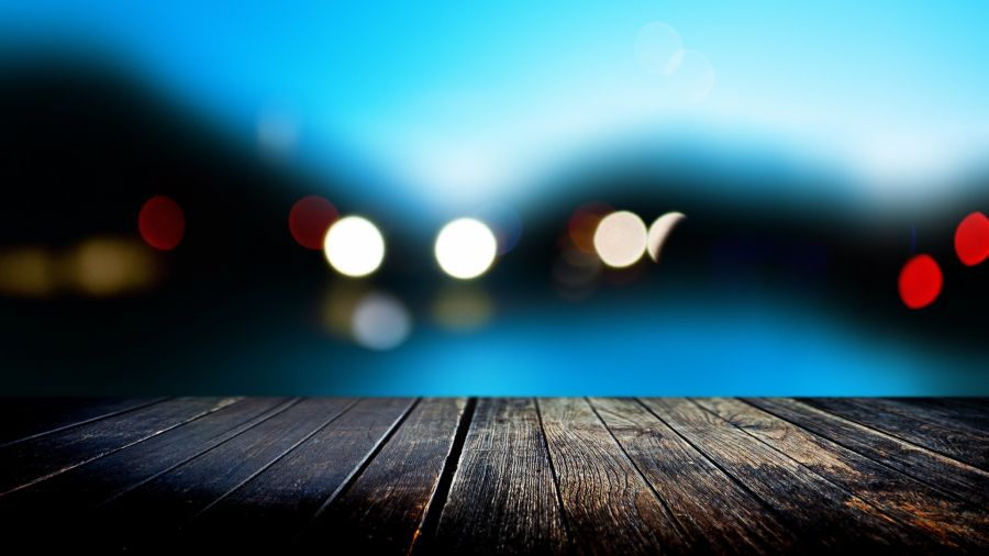 Free Wallpapers: Water Lights Bench Artistic Photography | Photography