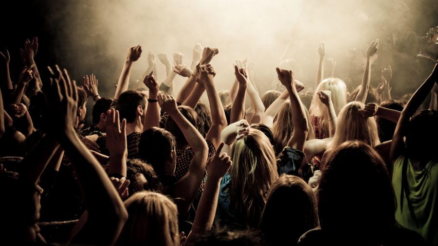 Free Wallpapers: Engaged Crowd at Concert | Music