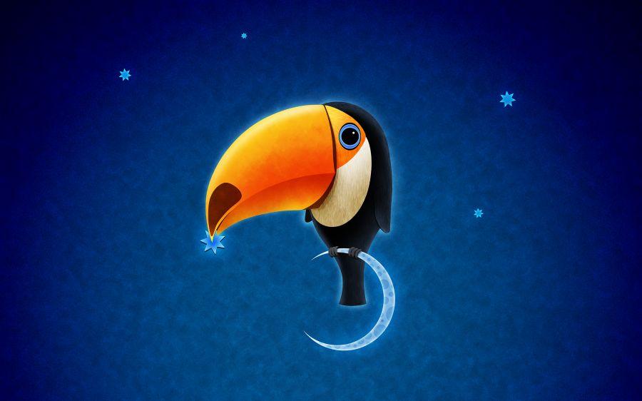 Free Wallpapers: Toucan Bird   Digital Art