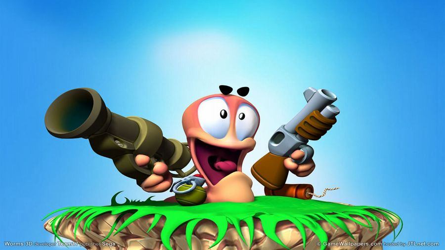 Free Wallpapers: Worms Sega Blue Game | Games