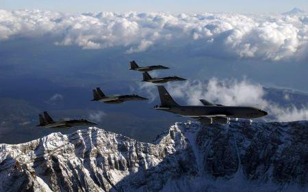 Free KC 135 Stratotanker Refueling F 15 Eagles