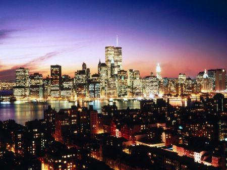 Free Lower Manhattan as seen over Brooklyn Heights, New York