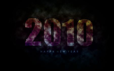 Free New Year 2010 Background