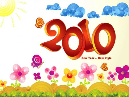 Free 2010 New Year Wallpaper
