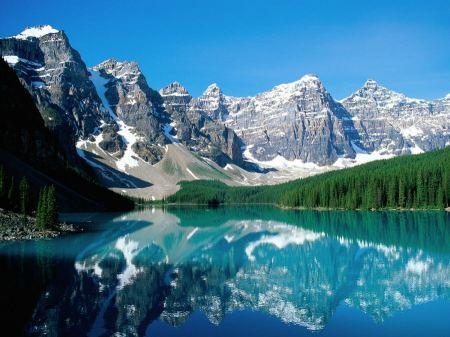 Free Moraine Lake Valley of Ten Peaks Wallpaper