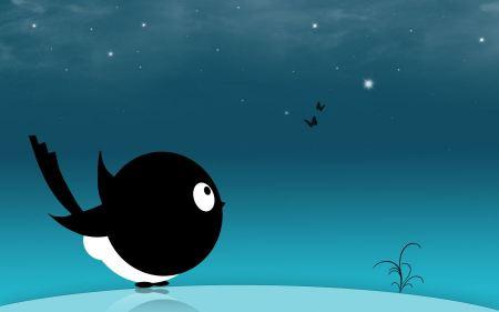 Free Creative Black Bird HD