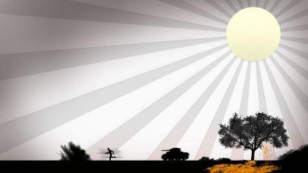 Free War & Sun Vector