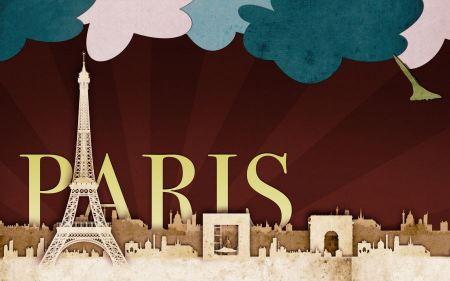 Free Paris Scrap Art