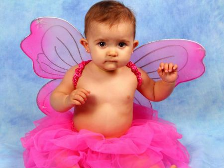 Free Cute Baby Girl in Fairy Outfit