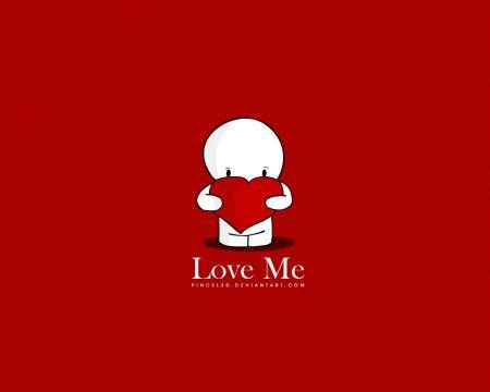 Free Cute Love Me Wallpaper