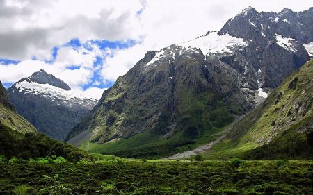 Free Newzealand Green Mountains Wallpaper