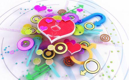 Free Multicolor Love Background