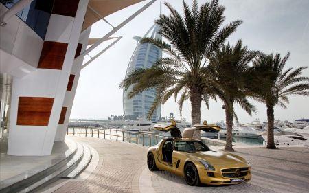 Free 2010 Mercedes Benz SLS AMG Desert Gold
