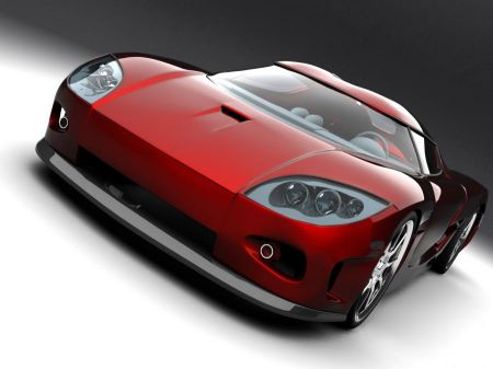 Free Koenigsegg Red Concept Car