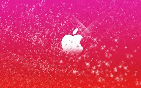 Free Apple Logo in Pink Glitter