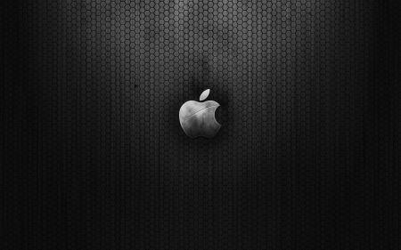 Free Dark Metal Apple Logo